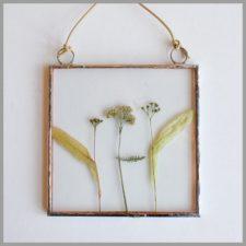 Полевые цветы в квадратной рамочке